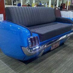 Cars Sofa Chair Decor With Red Leather 1965 Mustang Couch Bricol Garage Pinterest