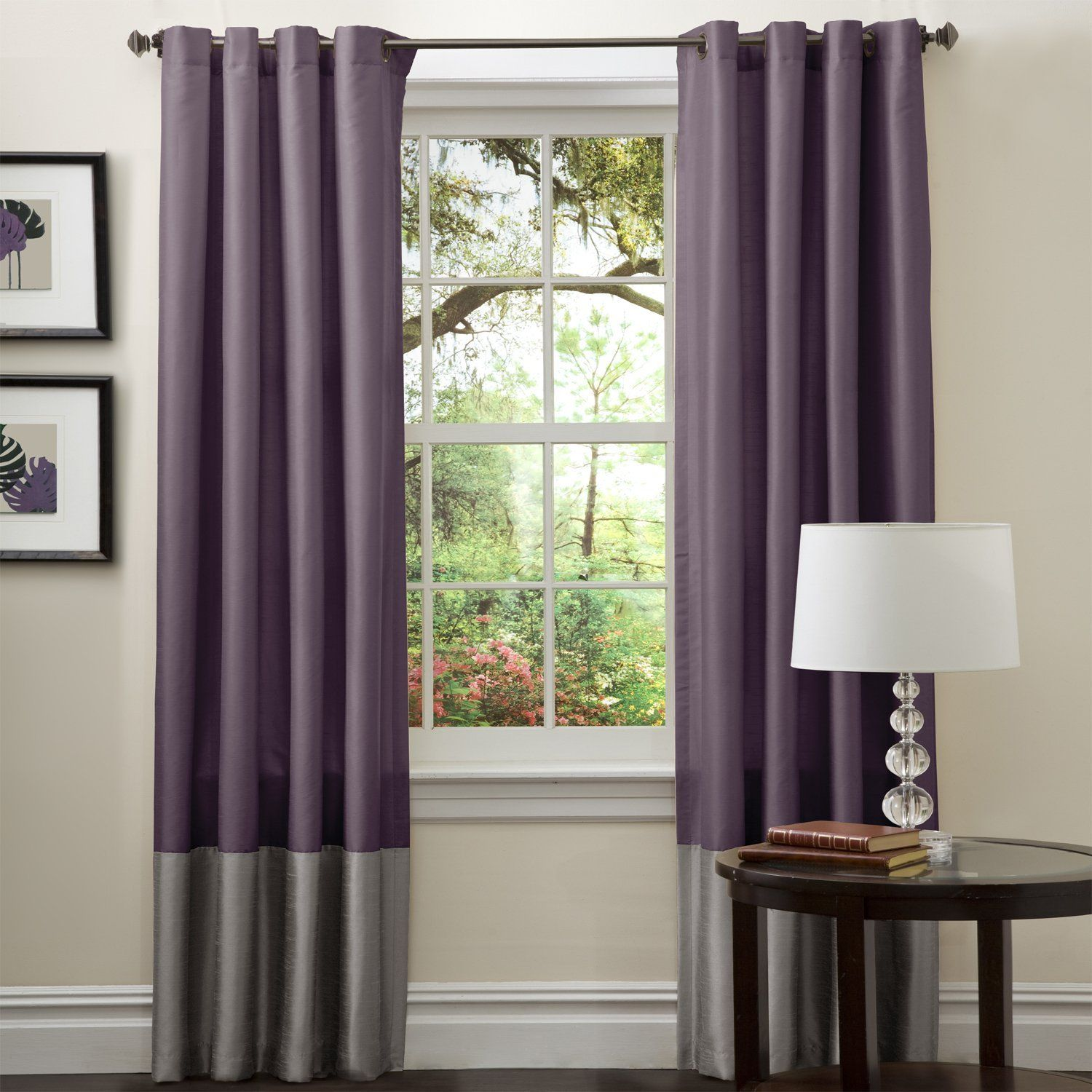 Stunning Purple Grey Curtains Images Interior Home Ideas