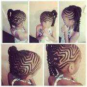 kids hairstyles; star cornrow design