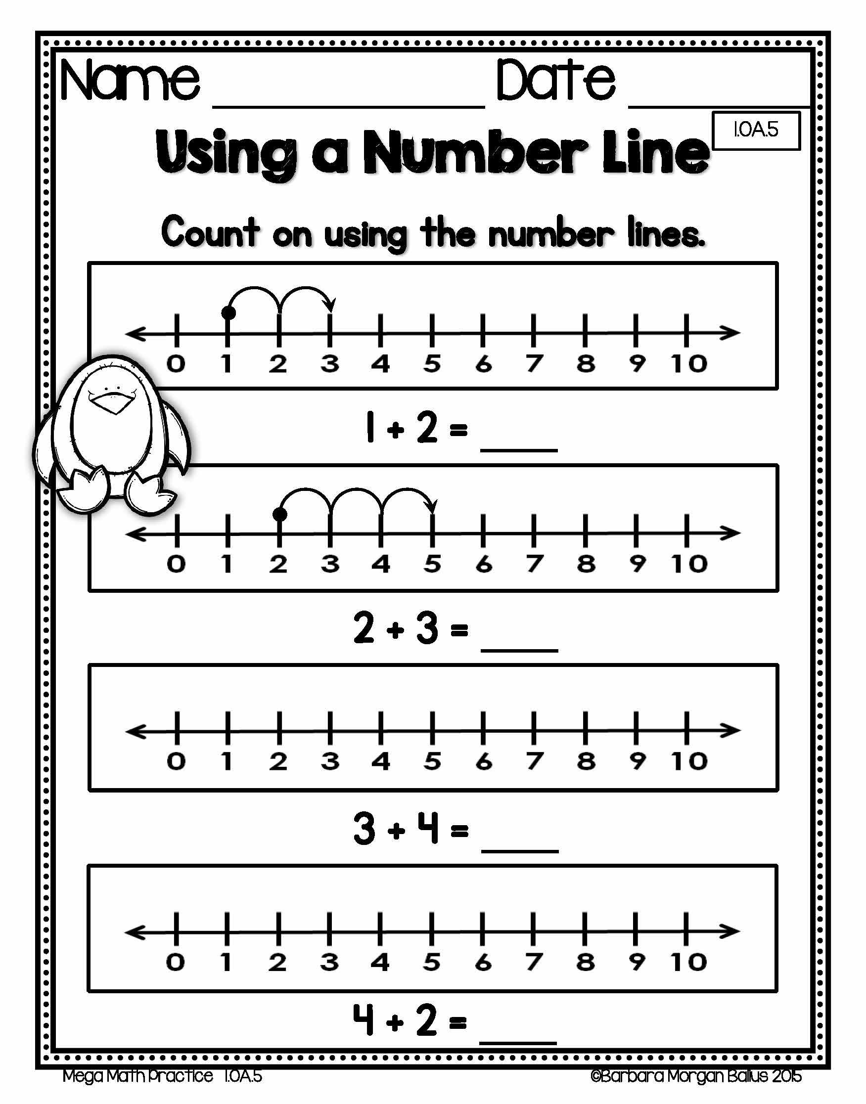 Number Line Worksheet 6th Grade