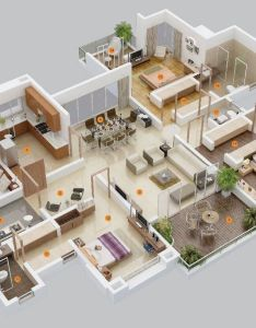 We feature three bedroom home plans in this massive post also includes links to and studio apartment floor photo courtesy of architecture design house designs rh za pinterest
