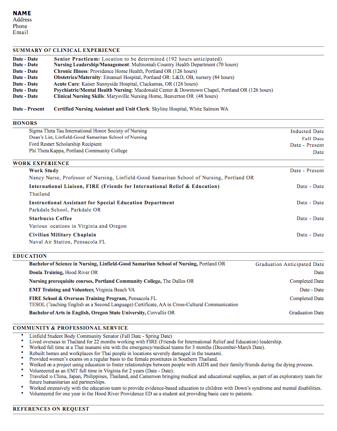 Nursing Leadership Resume Sample Exampleresumecv Org