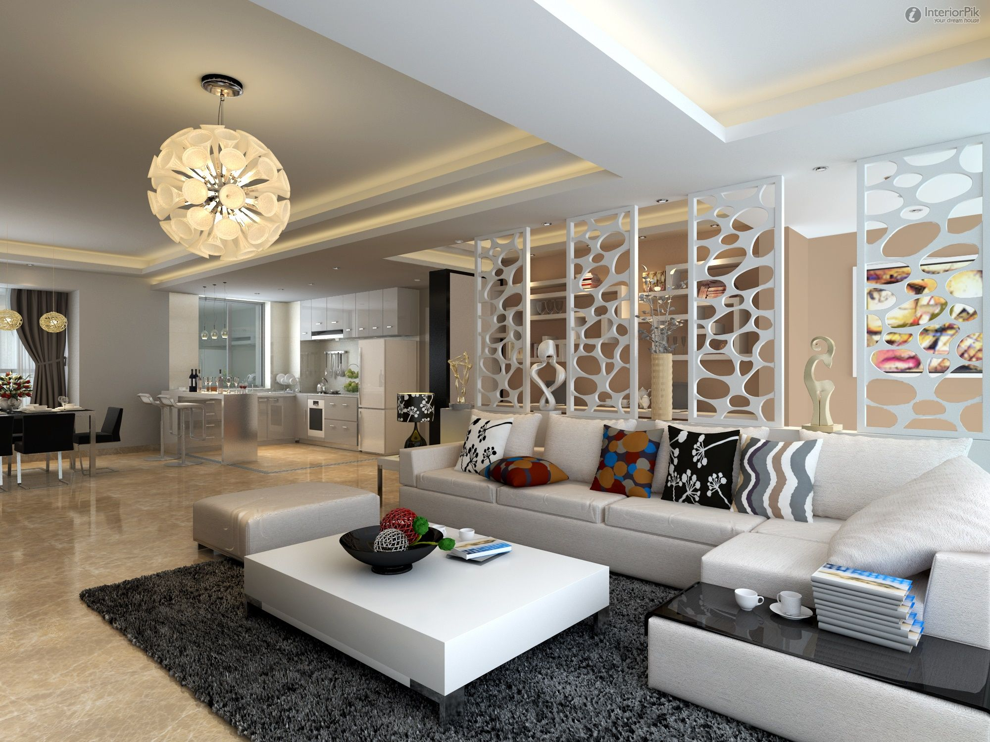 2013 new modern style living room partitions decorated