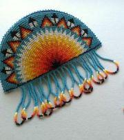 native beaded heart barrettes