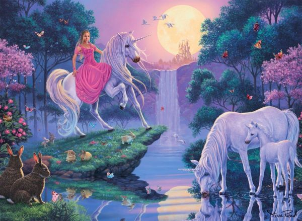 Princess With Unicorn Horse Fairy Tale Story