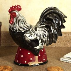 Rooster Statue For Kitchen Home Depot Remodel Country Cookie Jar And Chicken Decor