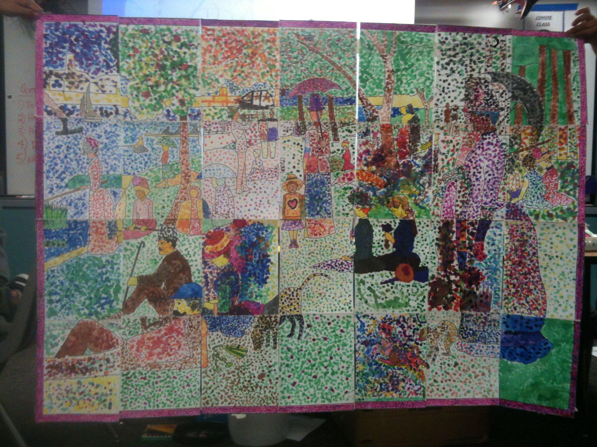 Pointillism Art For First Grade Worksheets Pointillism