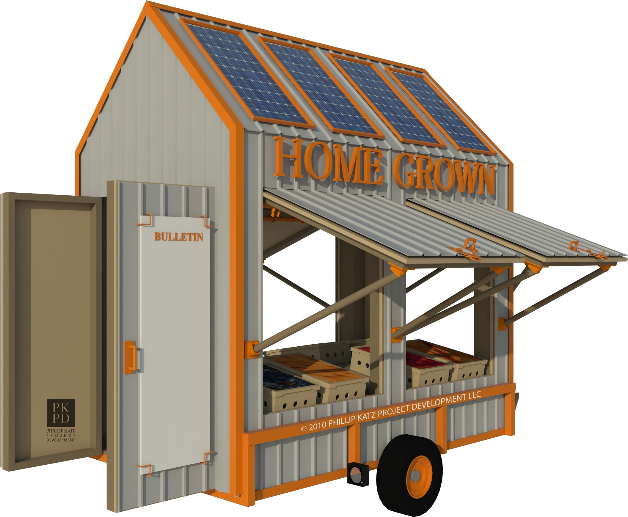 Vegetable Stand Designs : Mobile vegetable stand farm year of clean water