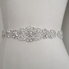 Wedding Chair Sash Accessories Crate And Barrel Vintner Bridal Belt Crystal Pearl Dress