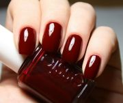 essie burgundy dark red nail colour
