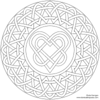 Heart Knot Coloring Page (+ LOTS more 'grown-up' coloring