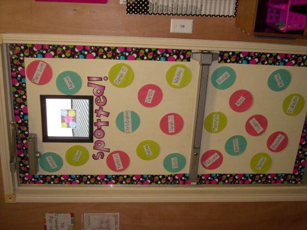 Polka Dot Bulletin Board Door Decor Classroom Theme