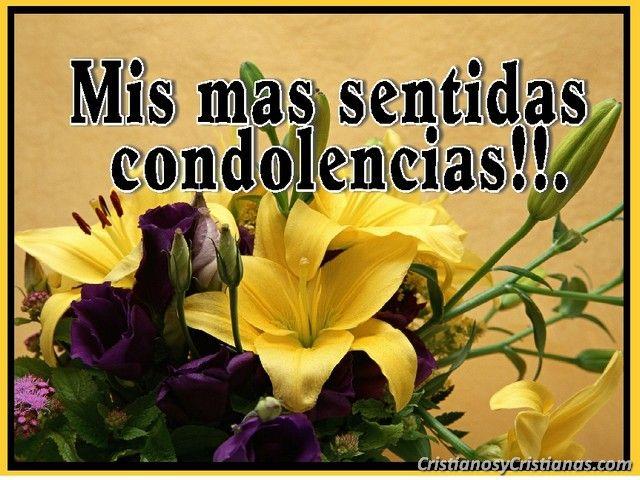Tarjetas De Condolencias Por Fallecimiento Cristianas