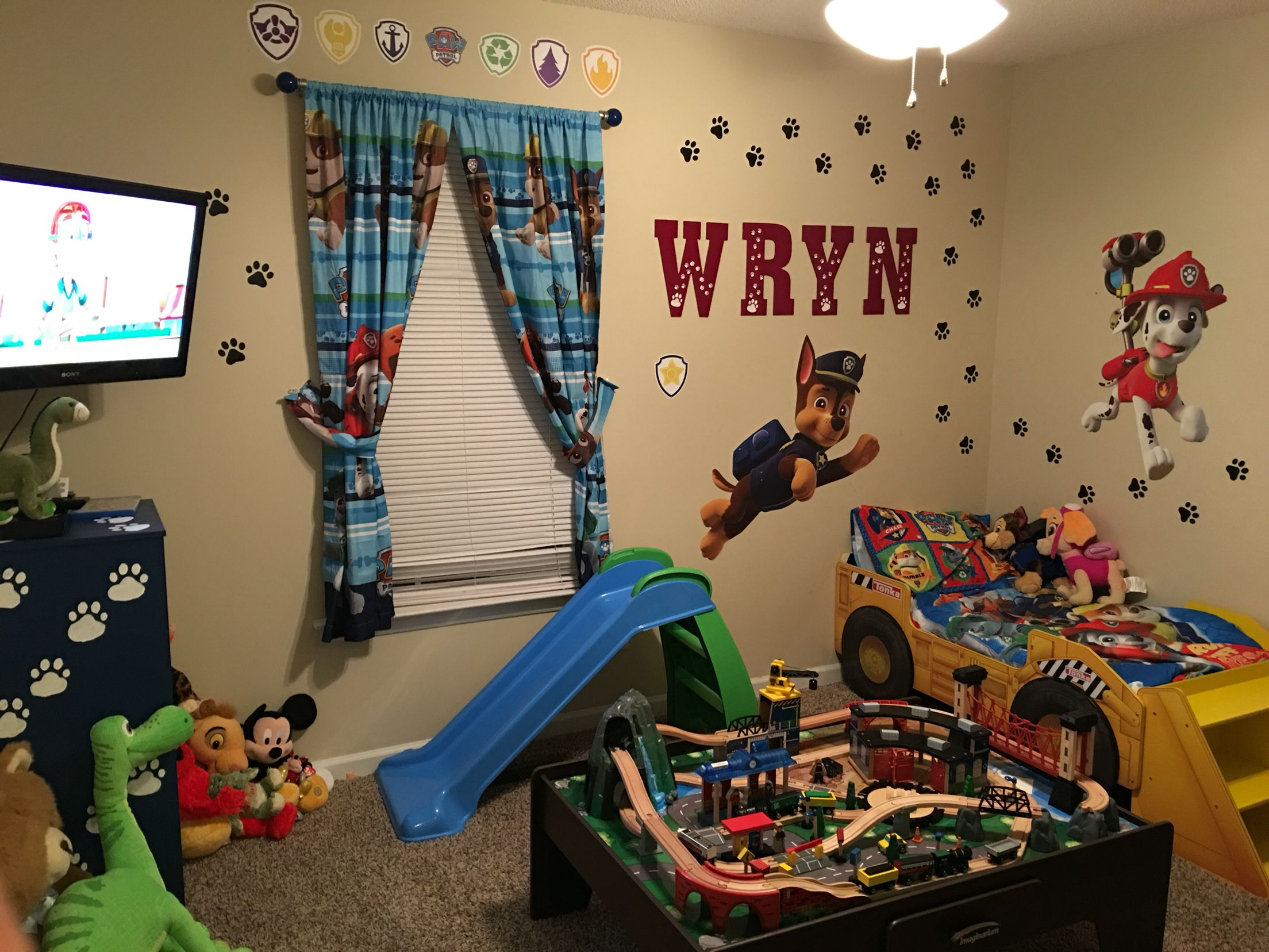 My sons new room  My sons Paw Patrol bedroom