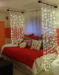 Like the idea of curtains with lights for kid  room also best images about mikaela on pinterest storage ideas flower rh