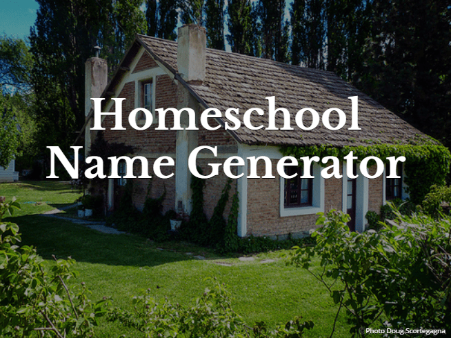 Homeschool Name Generator Eclectic Homeschooling School Ideas