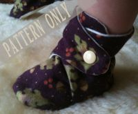 PATTERN & Tutorial for Baby Booties Soft Shoes with ...