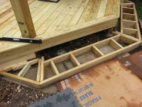 Cascading deck stair box framing details | Deck Design ...