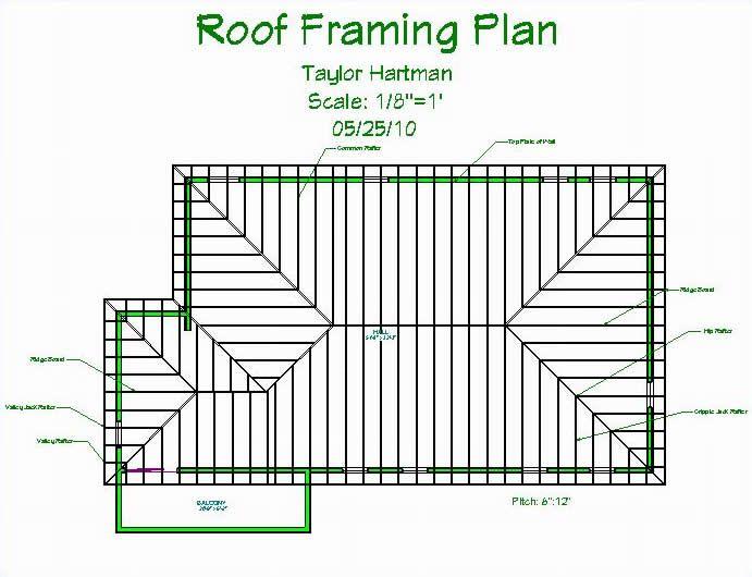 Standard Roof Framing Plan Example | Frameswalls.org