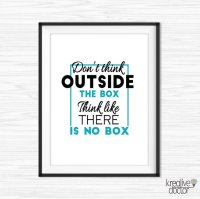 Think Outside The Box Quote, Office Wall Quote, Office ...
