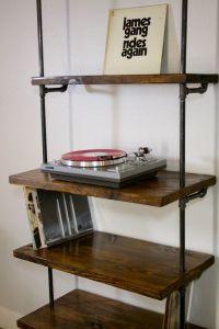 Industrial Vinyl Record Storage Shelf Unit - Modern ...