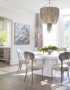 custom concrete table designed by rozanne jackson centers the dining area and sits under also this stunning show house is indeed showstopper rh pinterest