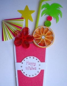 Nice card for summer party invitation also drink quilling paper and cards rh pinterest