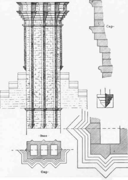 Fig 67 Ornamental Brick Chimney Stack This Section Is From The