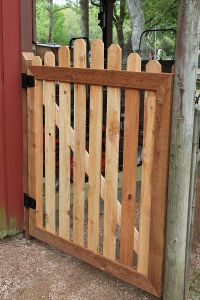 How To Build A Garden Gate Putting Up Fence And Building A ...