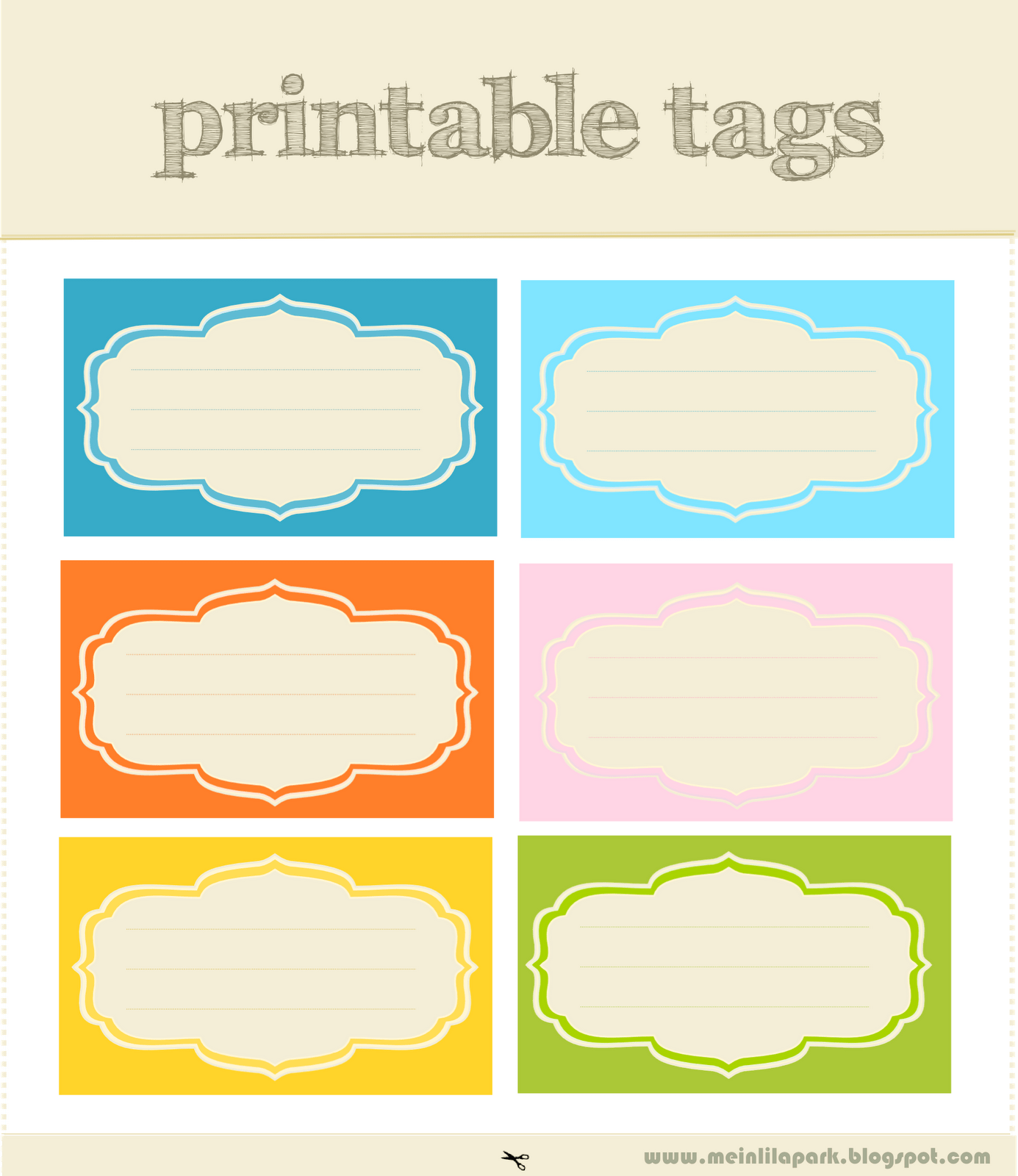 Free Printable Tags And Labels Love Rge Designs And Colors