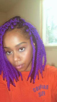 Purple and black yarn braids | yarn twist | Pinterest ...