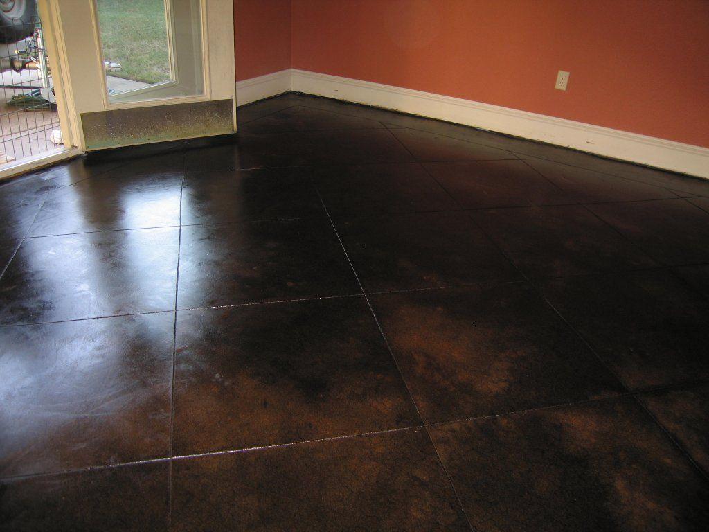 Dark Stained Concrete Floor  Concrete  Dallas Fort Worth Concrete Flooring Solutions Acid