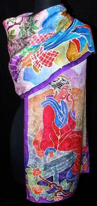 Japanese Silk Scarves for Women | japanese women jacquard ...
