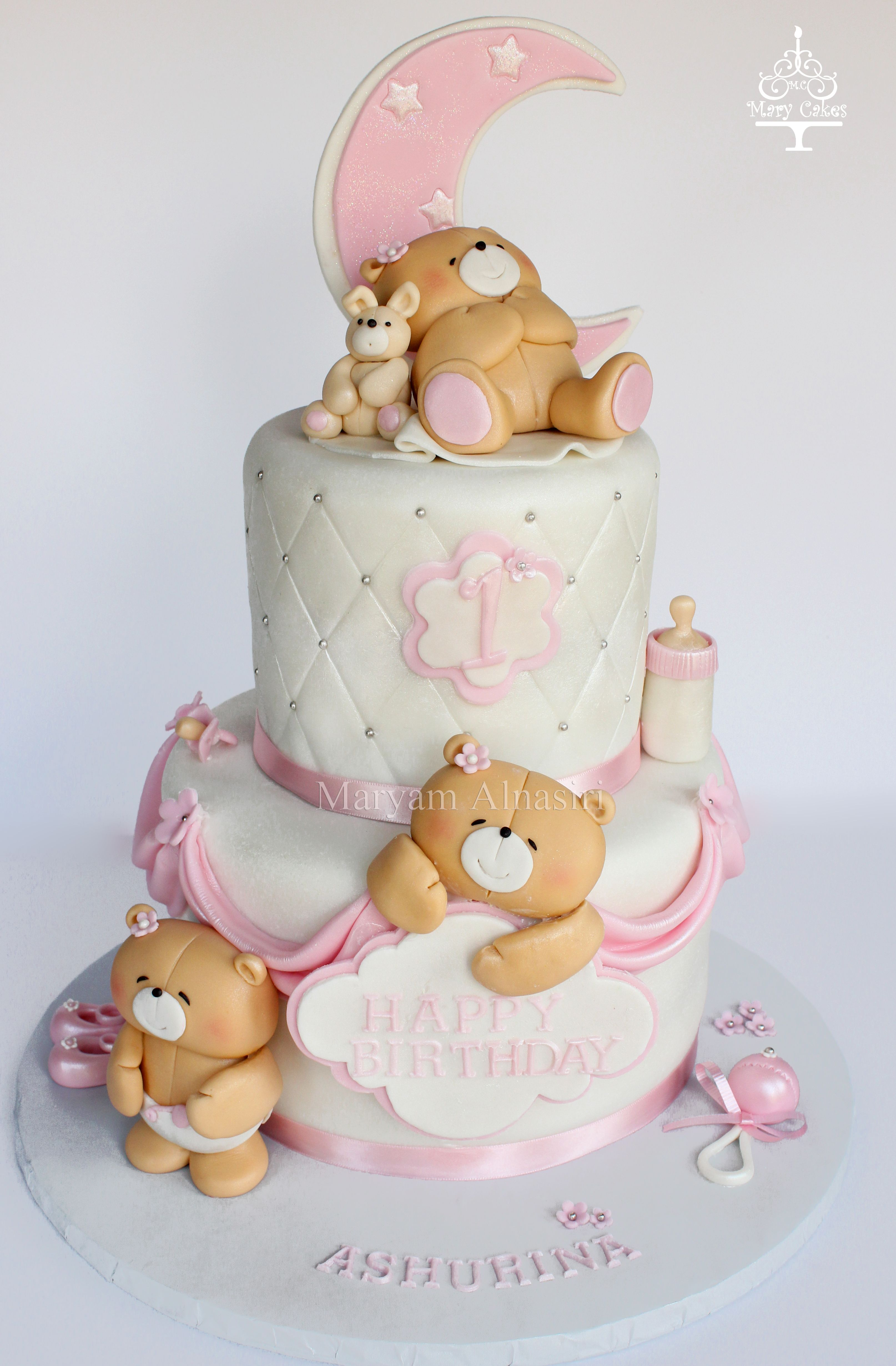 Forever Friends Teddy Bear Cake By Mary Cakes Maryams