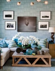 Coastal style living room idea home designs also image result for beach holiday decor pattaya apartment rh pinterest