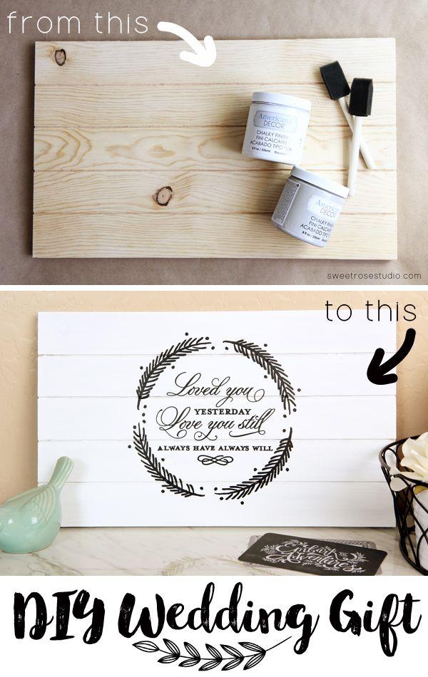 Best 25 Diy wedding gifts ideas on Pinterest  DIY wedding wood signs Creative wedding gifts