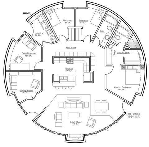 Living Options in a Circle Apartment Structure