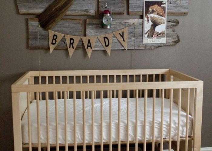 Vintage hunting nursery designed by ashley from this country fried life feaured on fawn over baby boy roomsbabies also