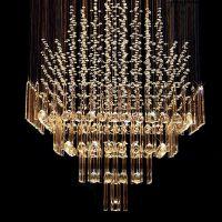 BYB Modern Chandelier Rain Drop Lighting Square Crystal ...