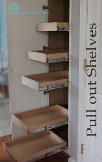 Kitchen Organization - Pull Out Shelves in Pantry | Pantry ...