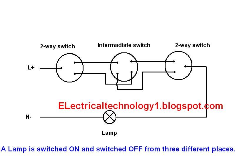 2 Way Switch Electrical Lighting Wiring Diagram How To Control One