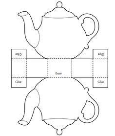 Printable Teacup Template Tea Pot Candy Box Templates