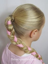 Braids and Ribbon Hairstyle http://babesinhairland.com ...