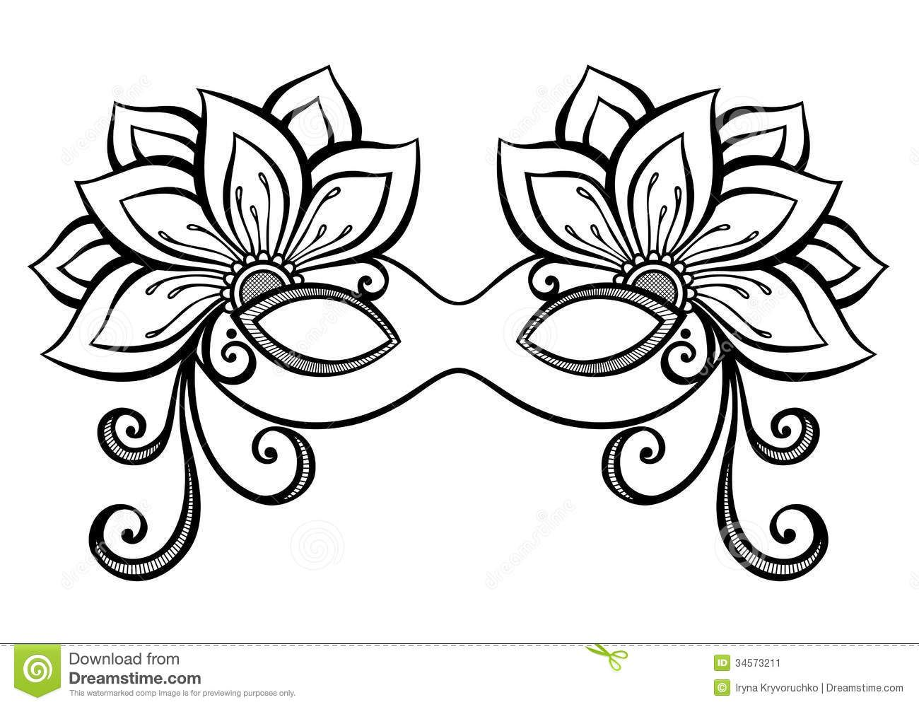 masquerade-masks-drawingsmasquerade-mask-stock-image