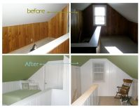 Painting Over Wood Paneling Before and After | painted ...