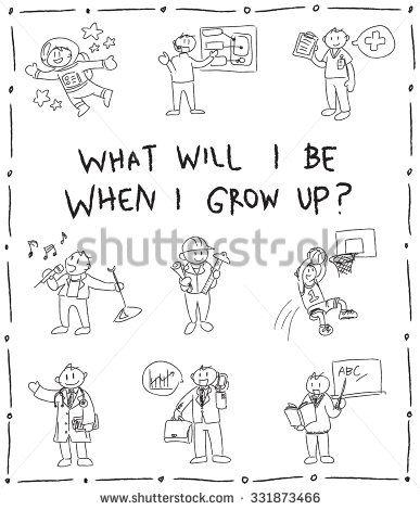 Kindergarten children pencil doodle drawing sketch of