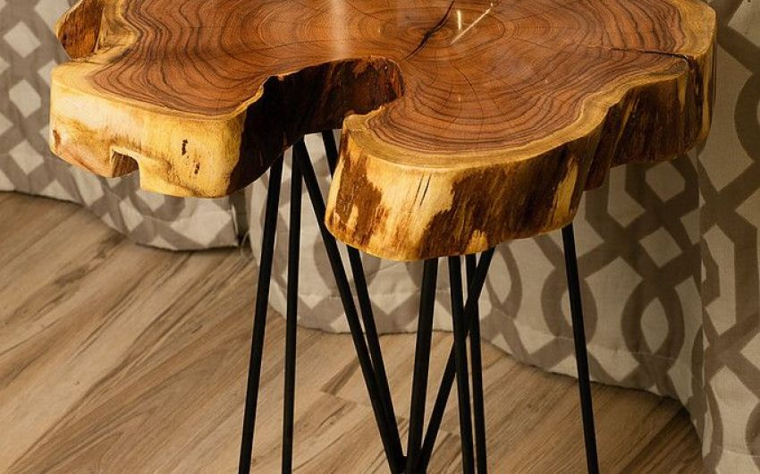 Rustic Chic Reclaimed Urban Wood Live Egde Wood Slab Tables Made In Phoenix Including Mode