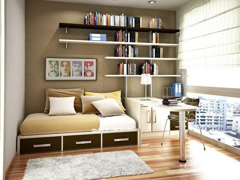 the best small bedroom organization ideas: small modern bedroom