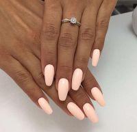 73 Peach Coral Coffin Almond Stiletto Acrylic Nail Design ...