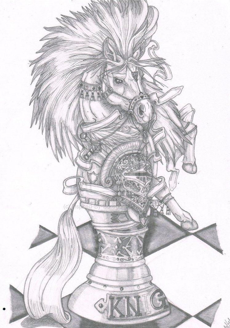 Beautiful Knight Chess Piece :) (Drawing this for my best